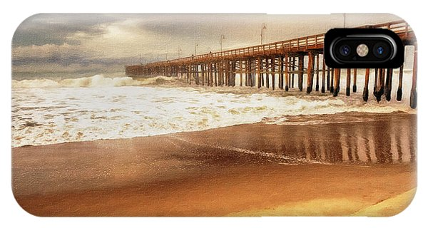 IPhone Case featuring the painting Day At The Pier Large Canvas Art, Canvas Print, Large Art, Large Wall Decor, Home Decor, Photograph by David Millenheft
