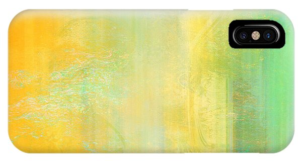 IPhone Case featuring the mixed media Day Bliss - Abstract Art by Jaison Cianelli