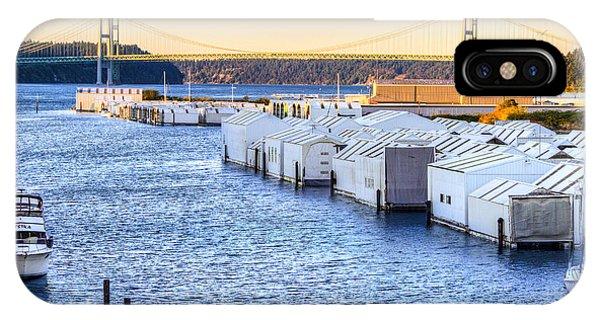 Day Island Marina And Narrows Bridges IPhone Case