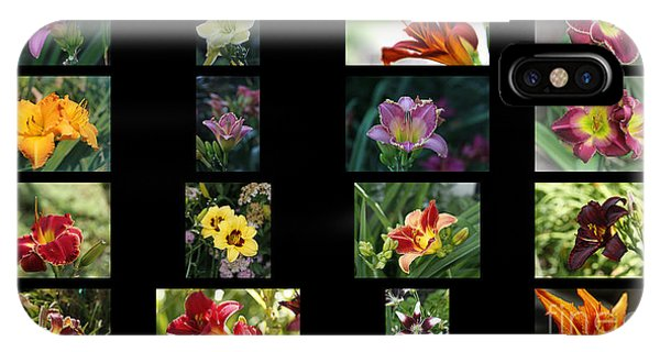 Day Lily Collage IPhone Case