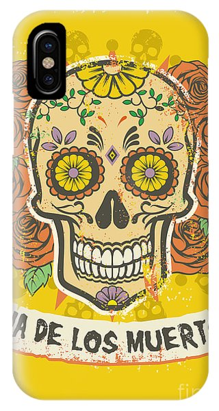 Spirituality iPhone Case - Day Of The Dead Poster by Bazzier