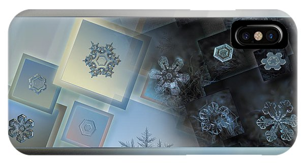 Snowflake Collage - Daybreak IPhone Case
