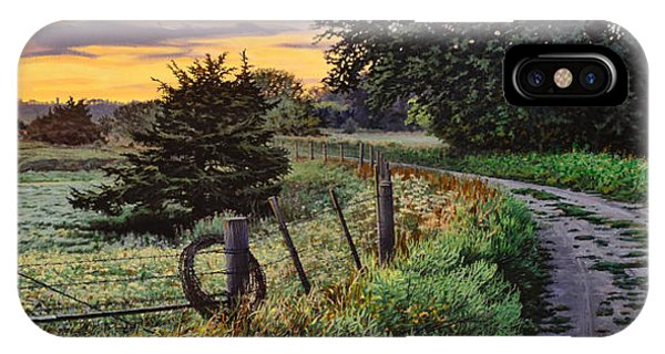Daybreak Southwest Corner Fenceline IPhone Case