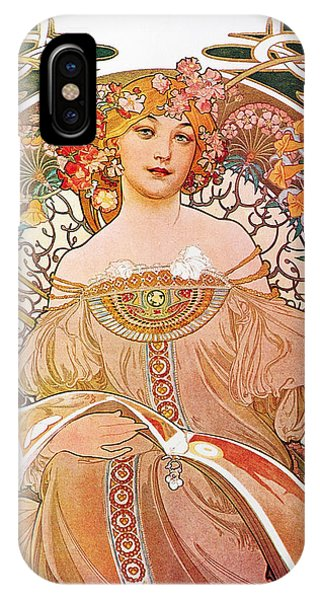 IPhone Case featuring the painting Daydream by Alphonse Mucha