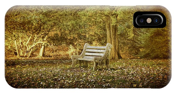 IPhone Case featuring the photograph Daydreamer's Bench by Ola Allen