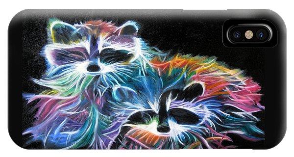 Dayglow Raccoons IPhone Case