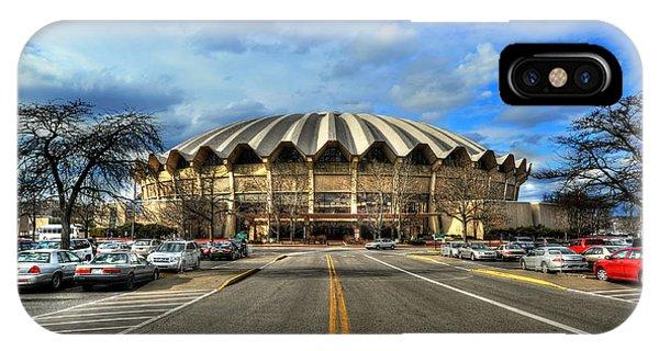 Daylight Of Wvu Basketball Coliseum Arena IPhone Case