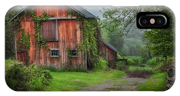 New England Barn iPhone Case - Days Gone By by Bill Wakeley