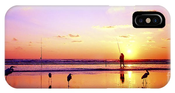 Daytona Beach Fl Surf Fishing And Birds IPhone Case