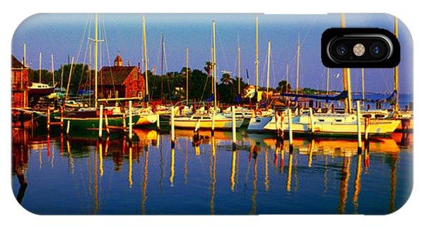Daytona Beach Florida Inland Waterway Private Boat Yard With Bird   IPhone Case