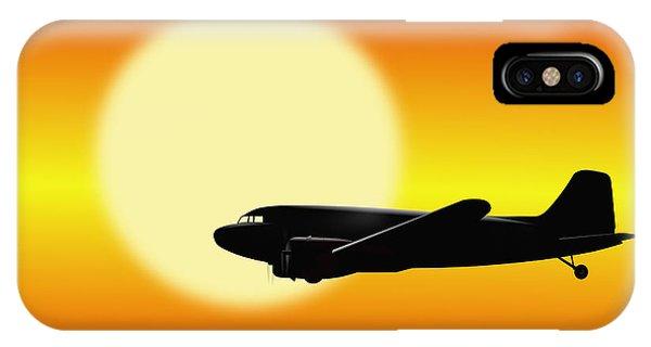 Dc-3 Passing Sun IPhone Case