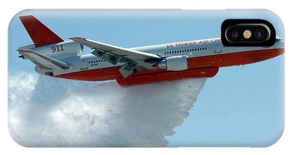 Dc10 Aerial Tanker Dropping Water IPhone Case