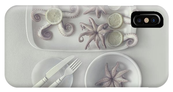 Dinner iPhone Case - D?ctopus...2 by Dimitar Lazarov -