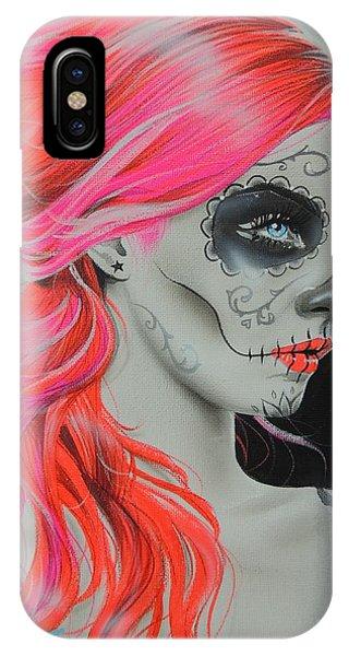 Skull iPhone Case - De Rerum Natura by Christian Chapman Art