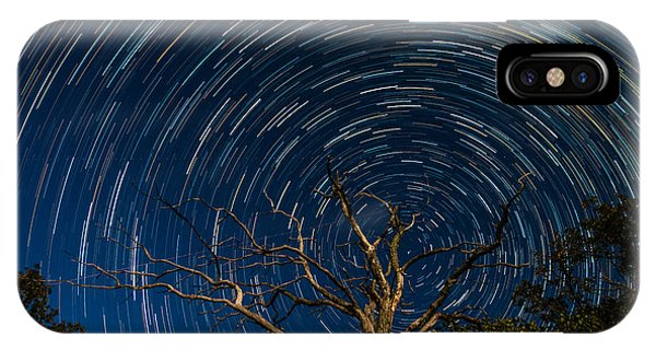 Dead Oak With Star Trails IPhone Case