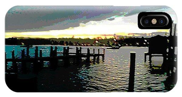 Deale Maryland Harbour Seascape IPhone Case