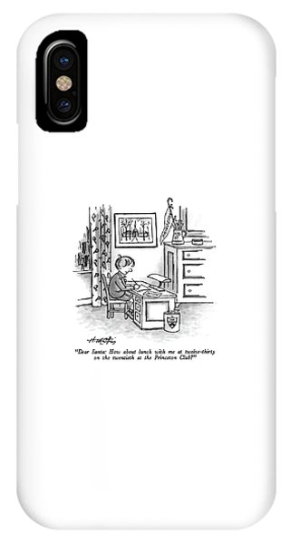 Dear Santa: How About Lunch IPhone Case