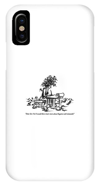 Dear Sirs: Yes!  I Would Like To Learn More IPhone Case