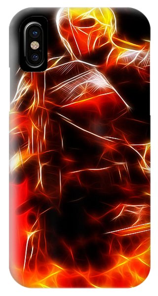 Fractals iPhone Case - Deathstroke The Terminator by Pamela Johnson