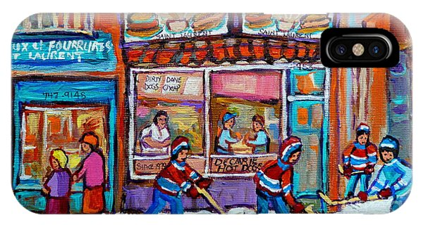 Decarie Hot Dog Restaurant Ville St. Laurent Montreal  IPhone Case