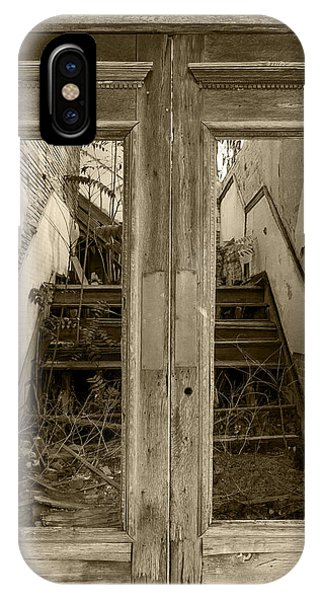 Decaying History In Black And White IPhone Case