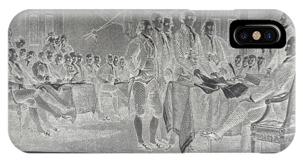 Declaration Of Independence In Negative IPhone Case