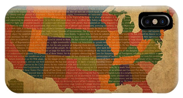 Declaration Of Independence Word Map Of The United States Of America IPhone Case