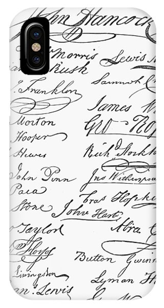 Declaration: Signatures IPhone Case