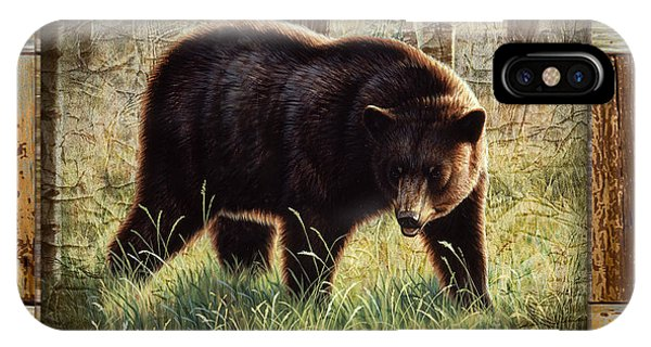 Deco Black Bear IPhone Case