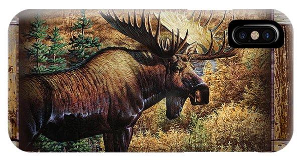 Deco Moose IPhone Case