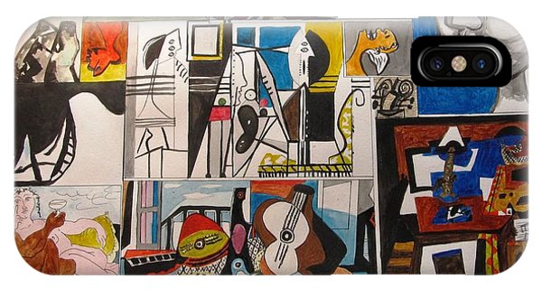 Deconstructing Picasso - Women And Musicians IPhone Case