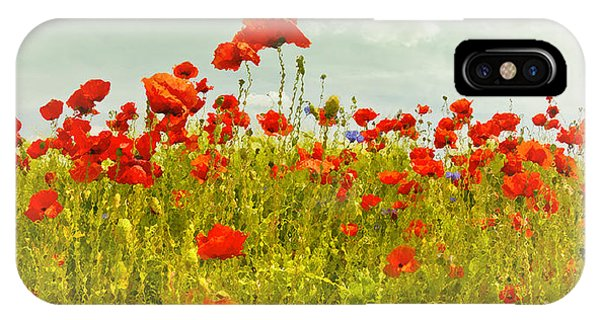 Poppies iPhone Case - Decorative-art Field Of Red Poppies by Melanie Viola