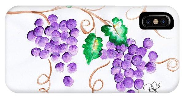 Decorative Grapes IPhone Case