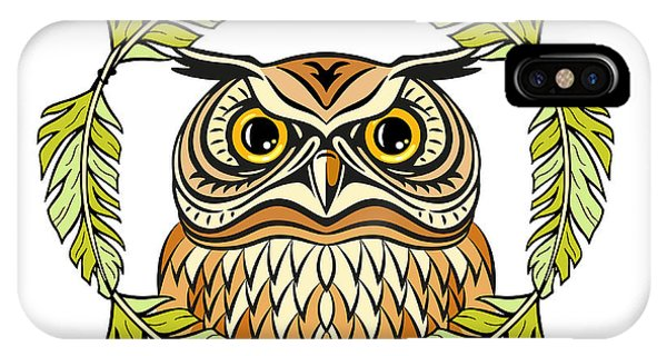 Students iPhone Case - Decorative Illustration With An Owl by Olgachka