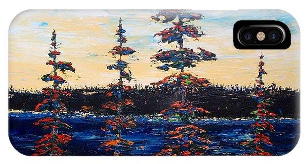 Decorative Pines Lakeside - Early Dusk IPhone Case