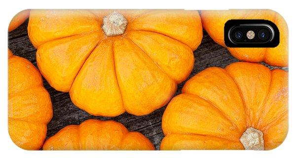 Autumn iPhone X Case - Decorative Pumpkins  by Alexey Stiop