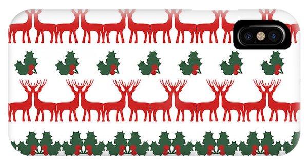 Nice iPhone Case - Decorative Reindeer Vector Pattern by Mattponchik
