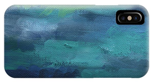 Wood iPhone Case - Tranquility- Abstract Painting by Linda Woods