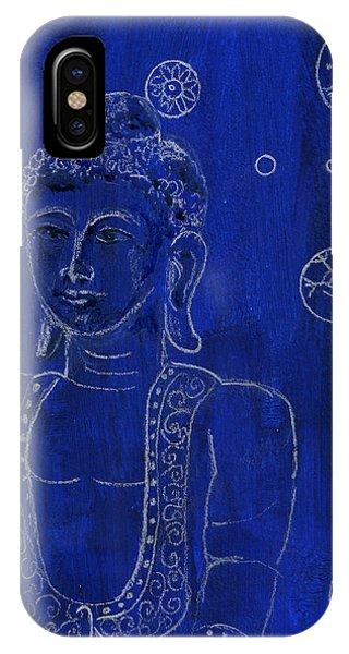 Deep Blue Buddha IPhone Case