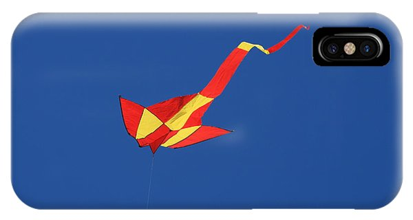 Deep Blue Sky And Kite Phone Case by Phoenix De Vries