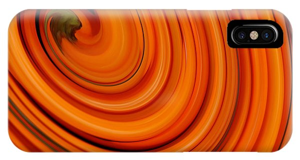 Deep Orange Abstract IPhone Case
