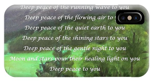 Deep Peace With Ct River Valley IPhone Case