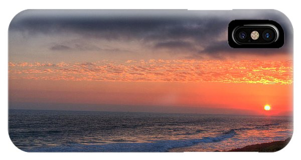 Deep Red Sunset Phone Case by Deborah Smolinske