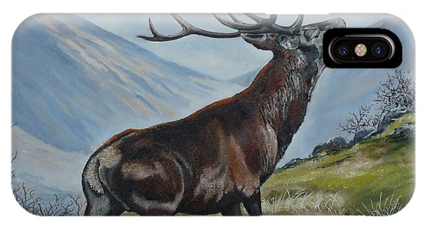 Deer Country Phone Case by Val Stokes