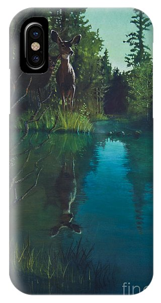 Deer Crossing IPhone Case