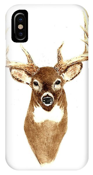Hunting iPhone Case - Deer - Front View by Michael Vigliotti
