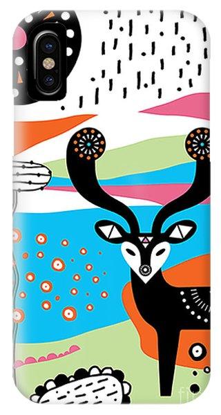 Festival iPhone Case - Deer Garden by MGL Meiklejohn Graphics Licensing