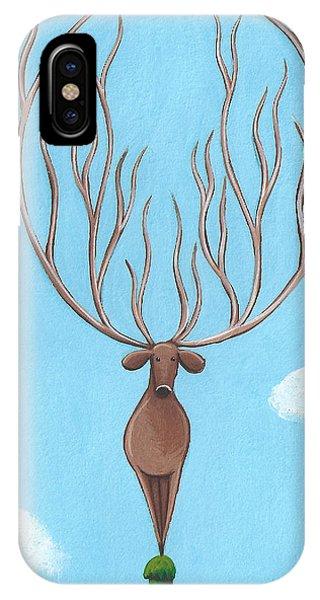 Deer Nursery Art Phone Case by Christy Beckwith