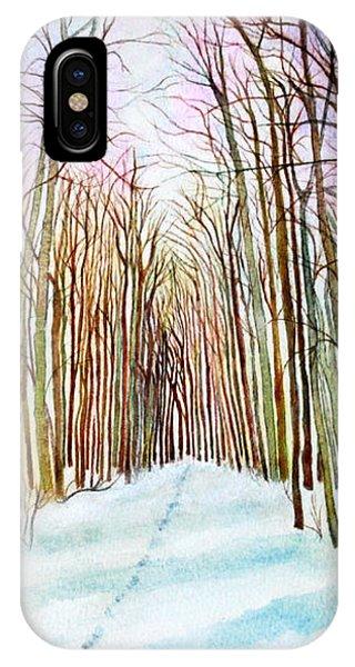 Deer Tracks In Snow IPhone Case