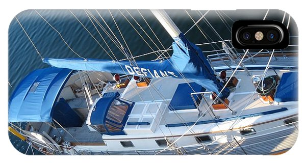 Defiant Sailboat Blues IPhone Case